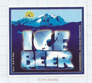 SWISS - Sonnebräu Rebstein - ICE BEER - beer label