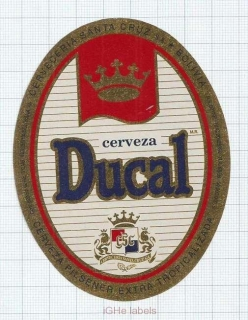 BOLIVIA - Cervecería Santa Cruz - DUCAL - beer label