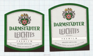 GERMANY - Darmstadt, LEICHTES (locomotive,train) - beer labels