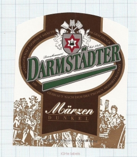 GERMANY - Darmstadt, Marzen (locomotive,train) - beer label