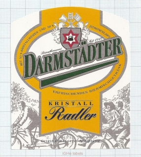 GERMANY - Darmstadt, RADLER (locomotive,train) - beer label