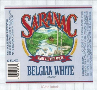 US - F.X. Matt Brew Co Utica NY - SARANAC Belgian White - beer label