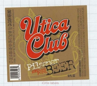 US - West End Brew Co Utica NY - PILSNER Beer - beer label
