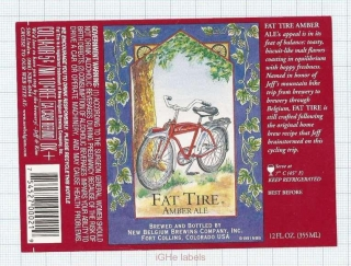 US - New Belgium Brew Co Fort Collins, CO - FAT TIRE Amber Ale - beer label
