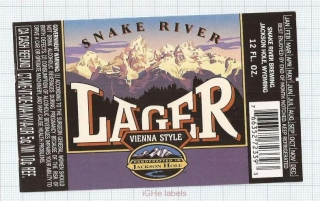 US - Snake River Brew Co Jackson, WY - LAGER - beer label