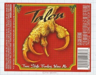 US - Micro, Mendocino Brewing Co. Ukiah - TALON - beer label