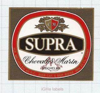 BELGIUM - Mechelen - SUPRA Chevalier Marin - beer label