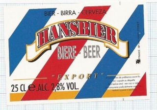 France - HANSBIER, export - beer label