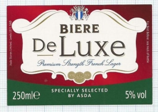 France - BIERE DE LUXE,  by ASDA - beer label
