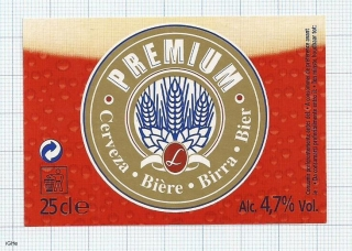 France - PREMIUM BIER - beer label
