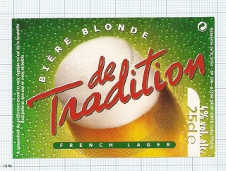 France - Saint Omer, Biere blonde de TRADITION - beer label