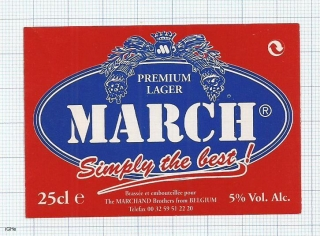 France - MARCH, Simply the best - beer label