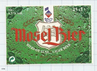 France - MOSEL Bier, Biere de Luxe - beer label