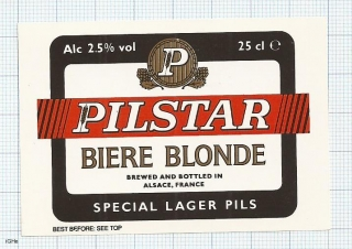 France - Alsace, PILSTAR, Biere Blonde - beer label