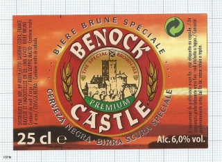 France - Saverne, BENOSCK CASTLE, cerveza negra - beer label