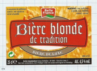 France - Biere Blonde de tradition BELLE FRANCE - beer label