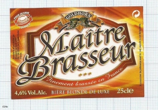 France - Saint Omer, GOLDHORN Maite Brasseur - beer label