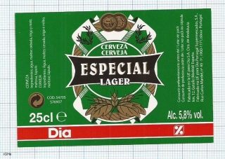 France - Especial Lager, for Portugal - beer label