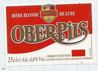 France - OBERPILS, Biere Blonde de Luxe - beer label