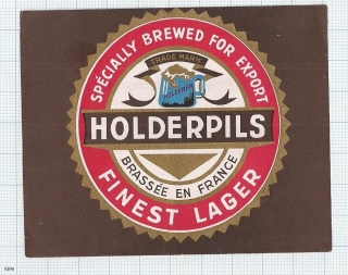 France - HOLDERPILS, Finest Lager, for export - beer label