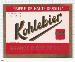 France - KOHLEBIER, Grande biere de Luxe - beer label