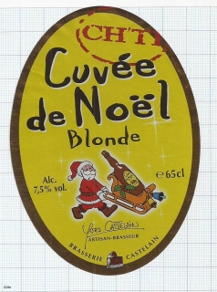 France - Brasserie Castelain, Cuvee de Noel (christmas) - beer label