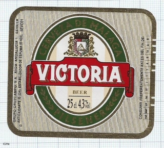 SPAIN - Sevilla, CRUZCAMPO, VICTORIA 25cl - beer label