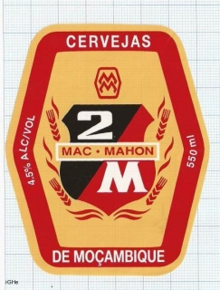 MOCAMBIQUE - MAC MAHON 2M 550ml - beer label