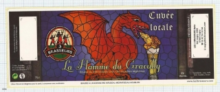 France - Micro, Metz, Les 3 Brasseurs - La Flamme du Graoully - beer label